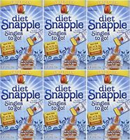 Diet Snapple sweet Tea Singles To Go 6 Sticks Per Pack (pack Of 6), New, Free on sale