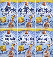 Diet Snapple sweet Tea Singles To Go 6 Sticks Per Pack (pack Of 6), New, Free