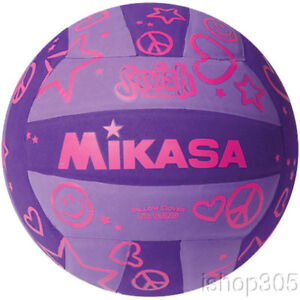 MIKASA-VSV106-Squish-Pillow-Soft-Indoor-Outdoor-Volleyball-Purple-Official-Size