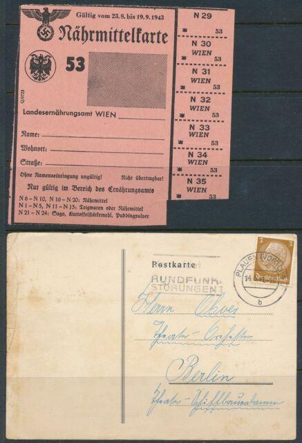 Lot Stamp Germany Revenue WWII Nazi Hindenburg Card Ration Sheet U