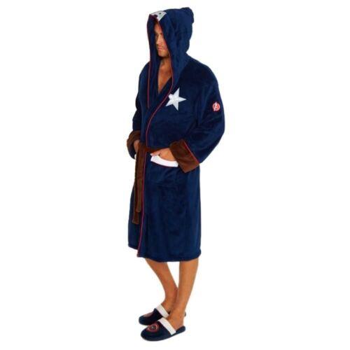 Marvel Captain America Civil War Outfit Bathrobe Cotton Blend Mens Dressing Gown