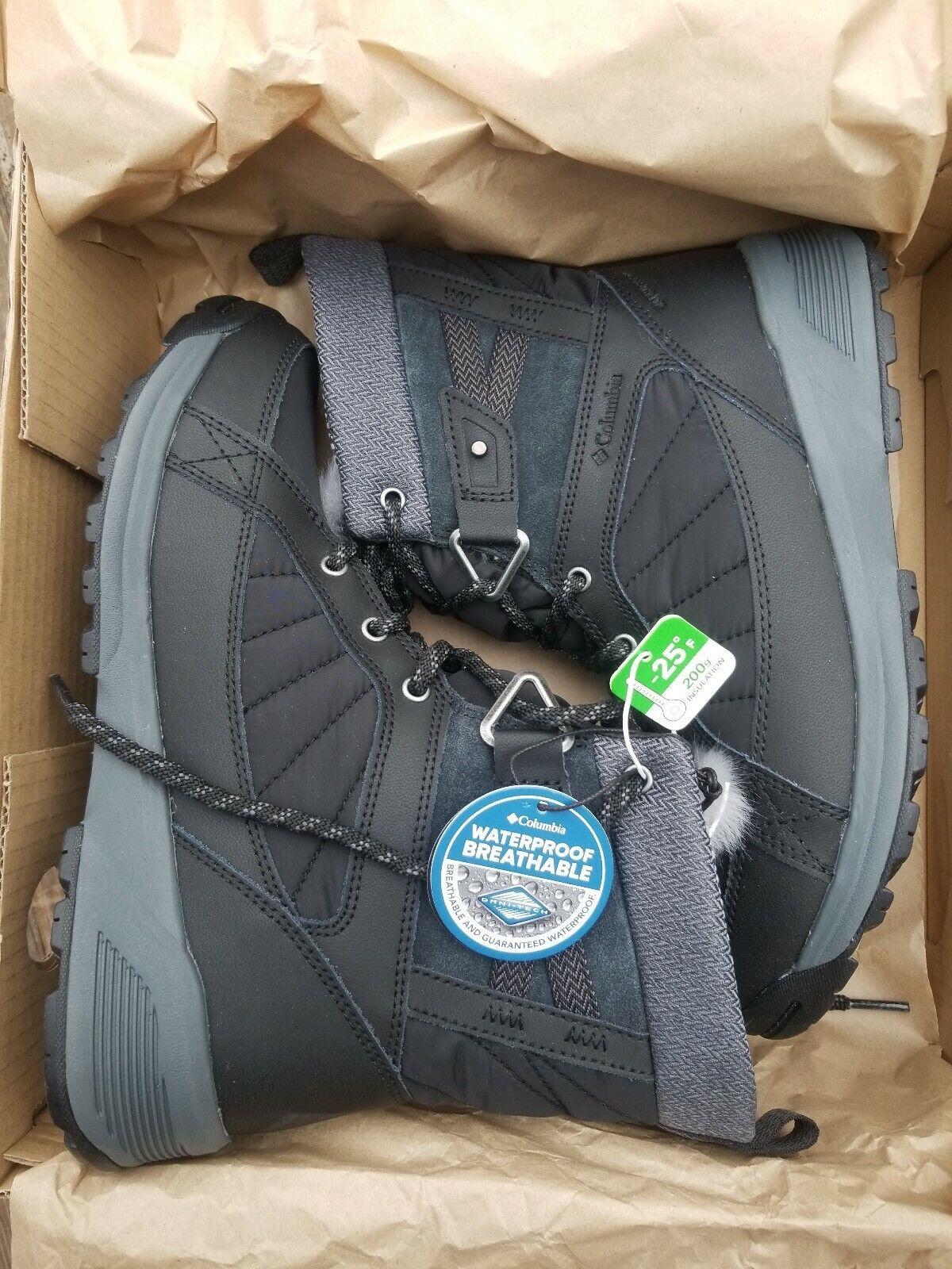 Nuevo Con Etiquetas Columbia Prados Shorty Omni Heat 3D Negro botas