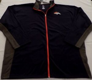 Dnver-Broncos-Full-Zip-Track-Jacket-4XL-Navy-With-Gray-Trim-Embroidered-Logo-NFL