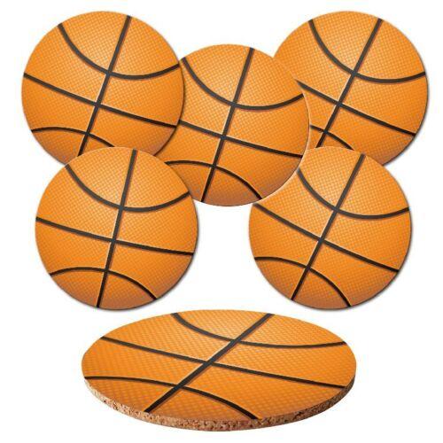 """Dessous de verre 6-tlg.set /""""basket/"""" avec korkrückseite-Balles-Ball De Sport"""