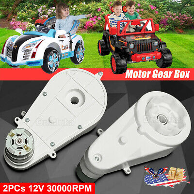 12V Power Wheels Gearbox and Motor for Jeep Ride On Toys 2 Pcs For Kids Car Toys