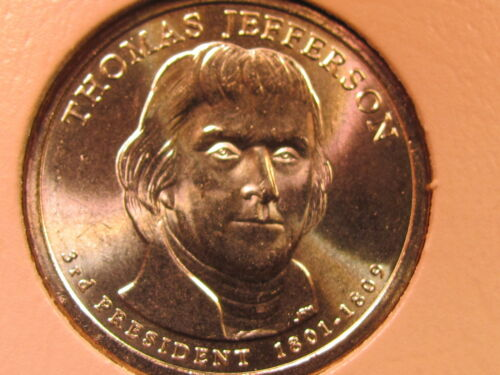 2007 D Thomas Jefferson $1 Presidential Golden Dollar Coin