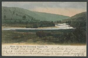 Titusville-PA-c-1906-Hand-Colored-Postcard-WHERE-OIL-WAS-FIRST-DISCOVERED