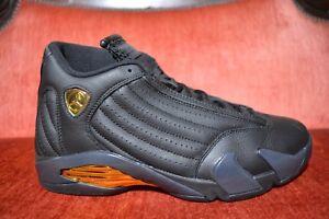 0ddb63568d0 Nike AIR JORDAN XIV 14 RETRO DMP BLACK GOLD DEFINING MOMENT 487471 ...