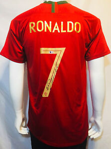 brand new 6760d f5c2e Details about Cristiano Ronaldo Autographed Portugal 2018 Soccer Signed  Jersey - BAS Beckett