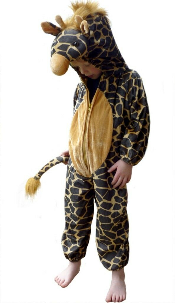 NEW Kids Safari Full Body Hooded Small Giraffe Costume