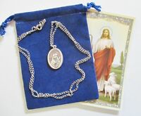 Pretty St. Philomena Saint Medal with 24 Inch Necklace
