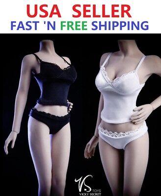 1//6 scale Tank Top Underwear Set for 12/'/' female figure Phicen TBLeague