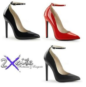 fb19871ec4c PLEASER 5-5 1 4 SEXY 23 HIGH HEEL STILETTO ANKLE STRAP COURT SHOES ...