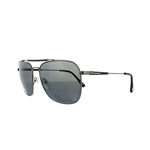 e2f7b132fdb7 Tom Ford Sunglasses FT0377 Edward O9D Matt Ruthenium Grey Polarized ...