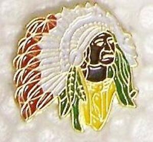 Details about Hat Lapel Pin Tie Tac Western Indian Chief NEW #1