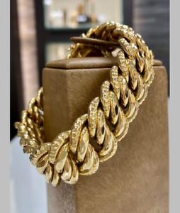 Imposant-Bracelet-maille-Americaine-Gourmette-Or-Jaune-18-Carats-40-gm
