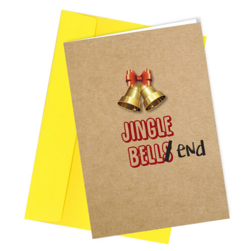 #376 CHRISTMAS CARD Rude Greeting Card funny humour Jingle Bell End