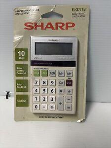 New Sharp EL-377MB ElsiMate Twin Power 10 Digit Tax Business Pocket Calculator