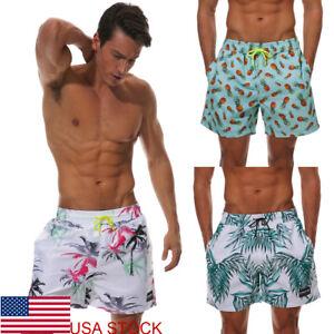 Men-039-s-Swim-Trunks-Beach-Shorts-Surf-Board-Shorts-Summer-Sports-Pants-Breathable