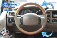 2001-2003 Ford F150 Supercab King Ranch Leather Steering Wheel Cover 2piece Wrap