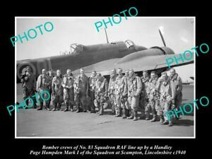 OLD-POSTCARD-SIZE-MILITARY-PHOTO-WWII-BRITISH-RAF-No-83-BOMBER-SQUADRON-c1940