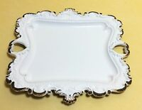 Shabby Cottage Chic White Chippy Antique Style Cast Iron Soap Dish