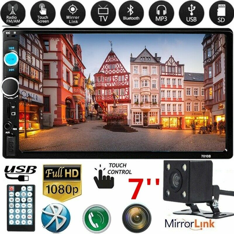 s l1600 - 2Din Autoradio Touch pantalla Bluetooth Stereo MP5 reproductor TF/FM/USB cámara