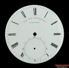 Antique Jules Huguenin Railway Time Keeper Pocket Watch Dial 47mm No Cracks Chip