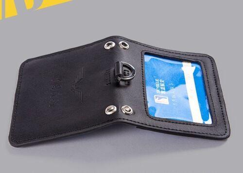 Double Deck équipage Licence Code De Cas Noir Support Cuir Véritable CAAC pilote