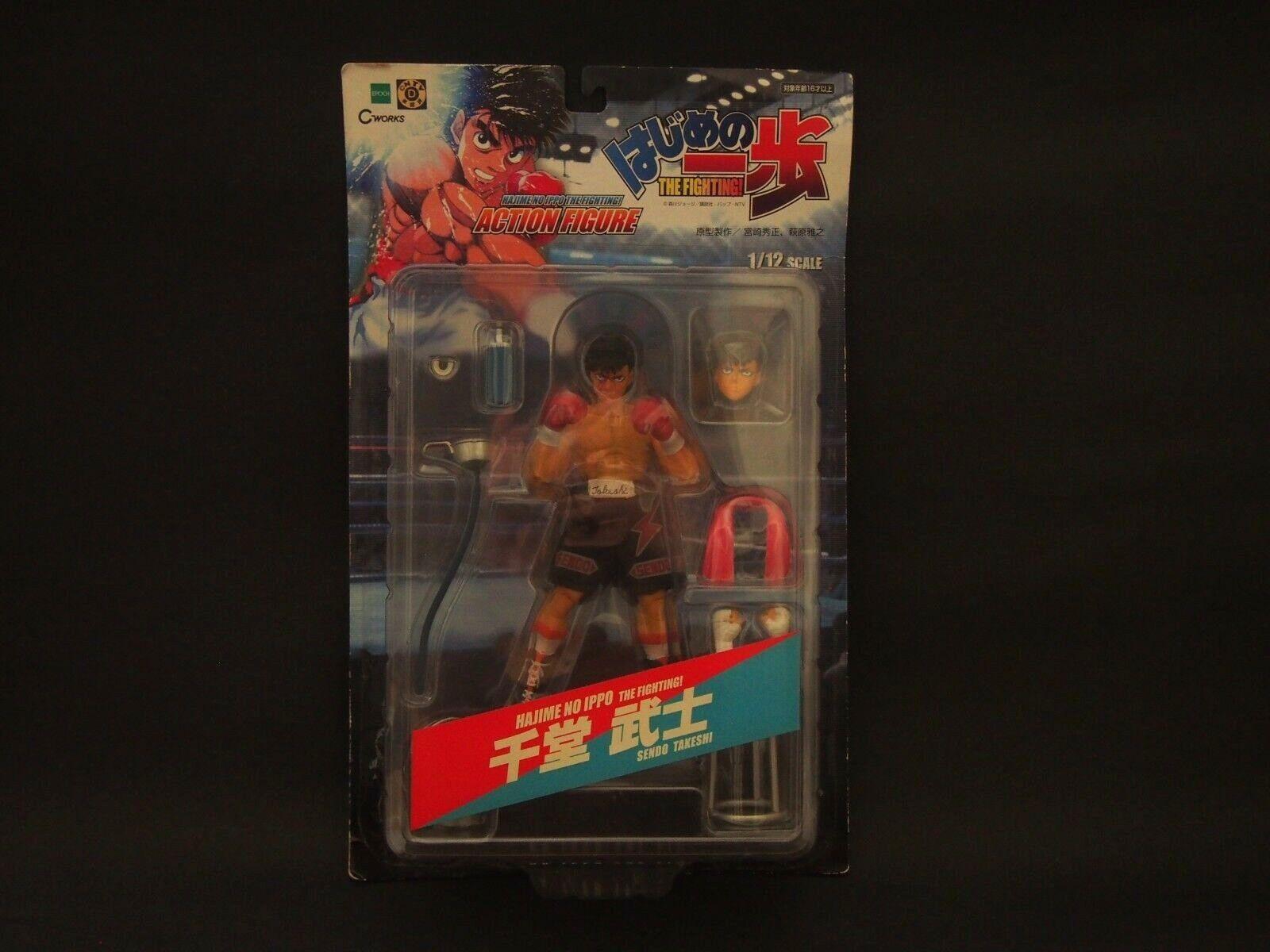 Ingen Ippo stridande anda Takeshi Sendo Epoch Figur från japan F  S