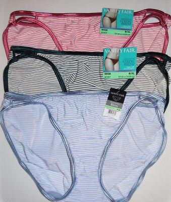 4  Vanity Fair Panty String Bikini Illumination 7 L 18108 Pink Blue Purple NWT