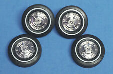 AMT 1959 El Camino Factory Hubcaps with Firestone Pad Printed White Walls 1//25
