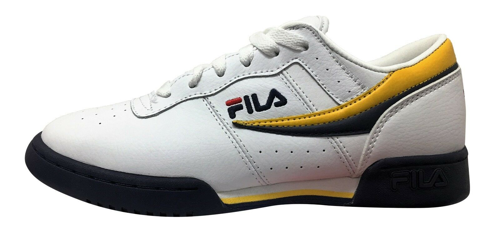 Fila Original Fitness White/Navy/Lemon Price reduction Comfortable and good-looking
