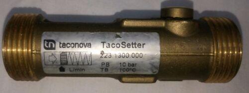 TACONOVA TACOSETTER 223.1300.000 en Línea Válvula de equilibrado Medidor de flujo 10BAR