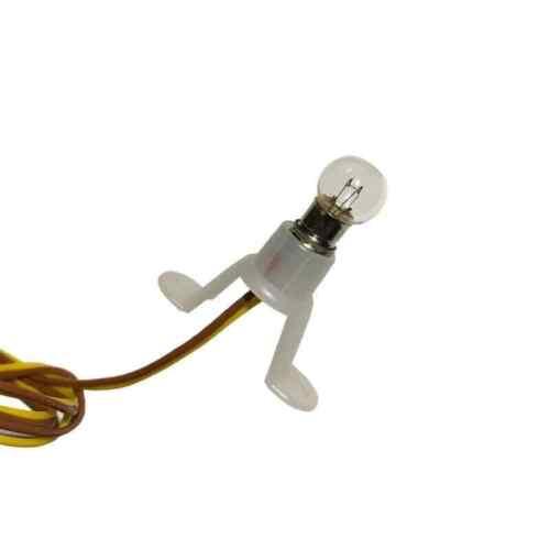 Kabel H0 BRAWA 3400 1//87 HO Sockel Beleuchtung Glühbirne 14-19 Volt 50mA