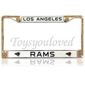 Los Angeles Rams Nfl Football Bling License Plate Frame