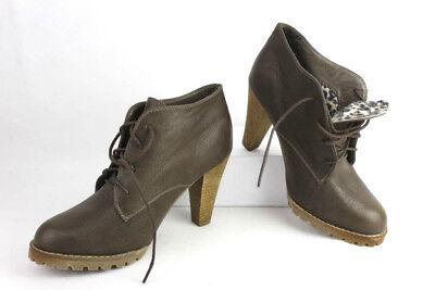Damen Schnür-Schuhe Stiefelletten Pumps, Braun Gr. 40 –gepflegt -