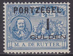 P43-1-gulden-Portzegel-1907-overdruk-De-Ruyter-postfris-MNH