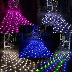 100/300 LED Net Mesh Light Xmas Party Wedding Fairy Garden String Light 220/110V eBay