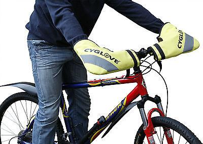 Bicicletta Bici Manubrio Manicotti Impermeabili Guanti Invernali Caldi E Asciutti Mani Giallo-mostra Il Titolo Originale Buona Conservazione Del Calore
