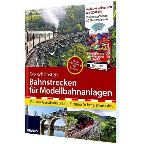 Modellbahnanla FRANZIS 3D Eisenbahnplaner 2013 Die schönsten Bahnstrecken f