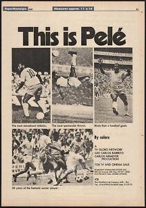 PELÉ__Original 1976 Trade print AD / ADVERTISEMENT__documentary promo ad__Pele