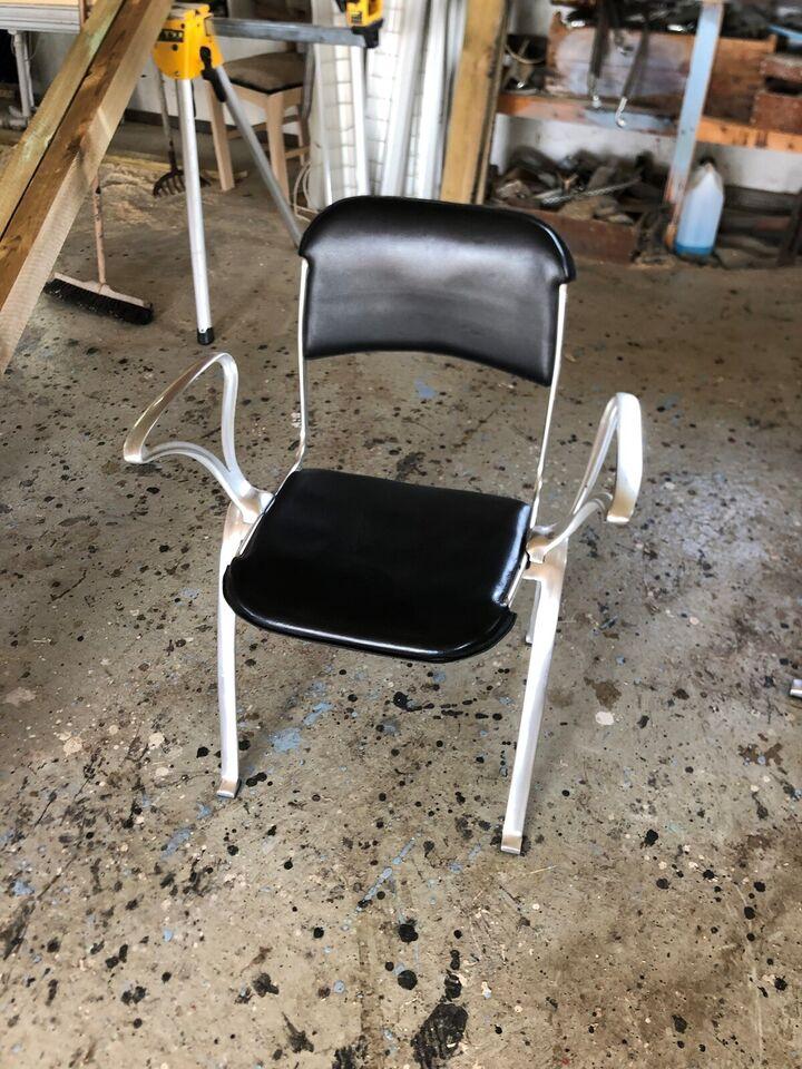 Spisebordsstol, Alustel/Læder, indecasa