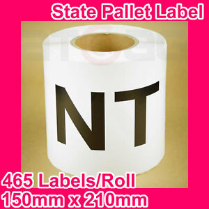 5-Rolls-of-State-Label-Pallet-Label-NT-150mm-x-210mm-2325-Labels-in-total