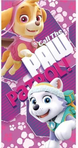 Paw Patrol 100/% Baumwolle Mikrofaser Badetuch mit Skye und Everest