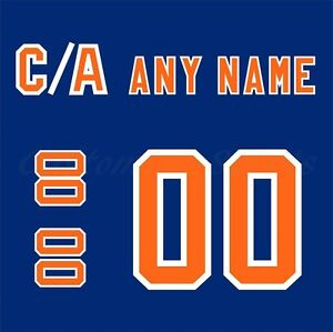 b86f8754a Edmonton Oilers 1980-81 Blue Hockey Jersey Customized Number Kit un ...