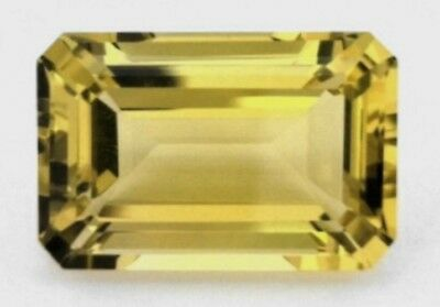 TOURMALINATED QUARTZ  14 x 10 MM EMERALD CUT ALL NATURAL SOLD AS A SINGLE STONE
