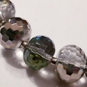 Graduated-Faceted-Glass-Necklace-Choker-17-034-Aurora-Borealis-Vintage-Cookie-Lee