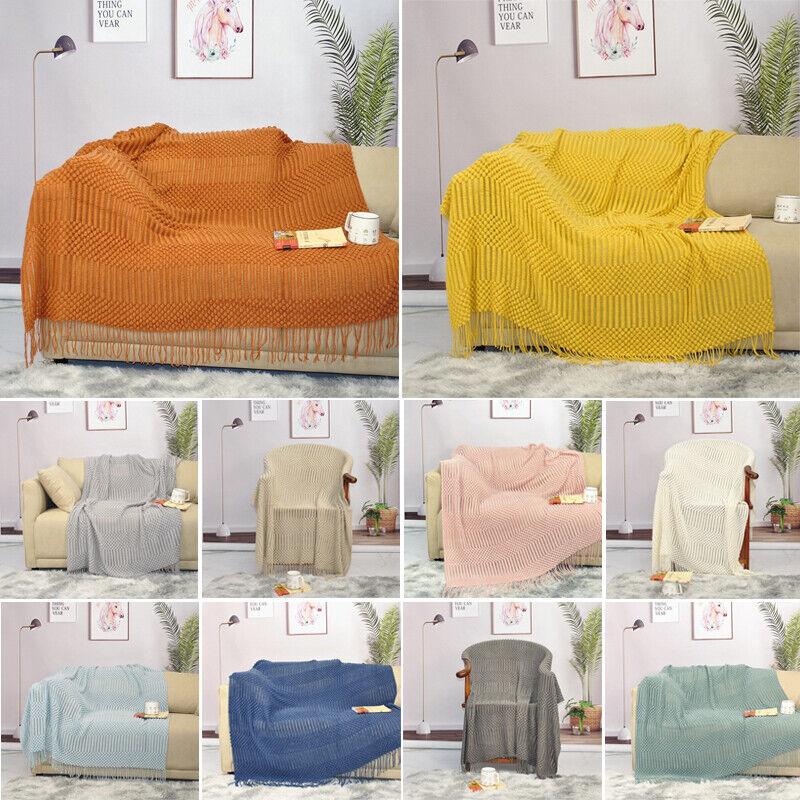 Gestrickte Decke Mit Quaste Warme Decke Decke für Klimaanlagen Schaldecke