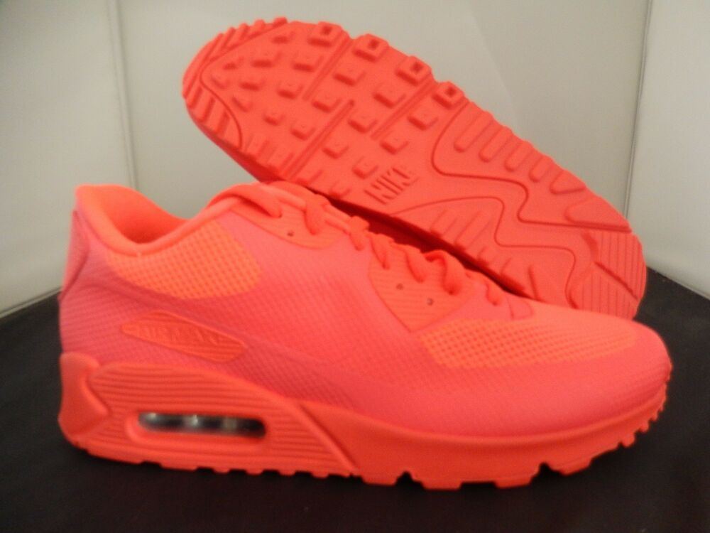 MENS NIKE AIR MAX 90 HYP HYPERFUSE SOLAR rouge PINK-noir SZ 10 [653603-992]